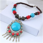 occidental style fashion  Metal all-Purpose Bohemia wind  concise turquoise ethnic style temperament necklace