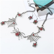 occidental style creative clavicle chain personality spider short style necklace spider earrings set