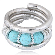 occidental style fashion  Metal all-Purpose turquoise temperament bracelet bangle