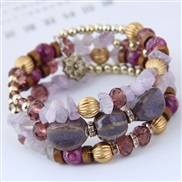 occidental style fashion  trend  concise  customs fashion mash up multilayer temperament bangle