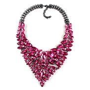 occidental style high-end luxurious necklace  Rhinestone all-Purpose necklace