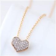 Korean style fashion sweetO bronze mosaic bright personality necklace