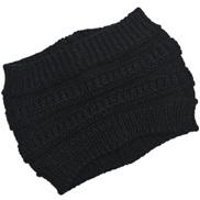 ( black) Autumn and Winter lady knitting belt width head woolen hat