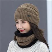 ( khaki)  hat woman Winter Korean style all-Purpose woolen  lady warm two