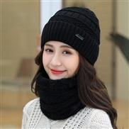 ( black)  hat woman Winter Korean style all-Purpose woolen  lady warm two