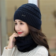 ( Navy blue)  hat woman Winter Korean style all-Purpose woolen  lady warm two