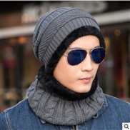 ( gray)hat man woman Korean style velvet woolen Winter leisure knitting hedging