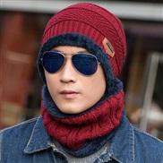 ( Burgundy)hat man woman Korean style velvet woolen Winter leisure knitting hedging
