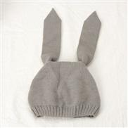 ( gray)  Korea super long rabbit child knitting  man woman woolen Modeling hat