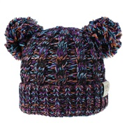 ( purple  black )child hat woolen knitting Autumn and Winter twisted weave Double hat man woman