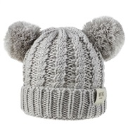 ( gray)child hat woolen knitting Autumn and Winter twisted weave Double hat man woman