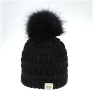 ( black)O  knitting woolen man woman child hat style lovely big hat color