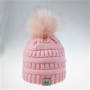 ( Pink)O  knitting woolen man woman child hat style lovely big hat color