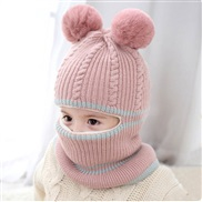 (     Pink)child hat Autumn and Winter man velvet thick knitting woolen woman