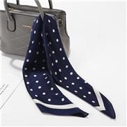 (FJ Navy blue)spring autumn scarves woman imitate silk samll Korean style samll scarf  occupation neckerchief all-Purpos