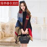 ( red )imitate sheep velvet shawl woman autumn Winter Korean style thick warm imitate wool scarf two wind