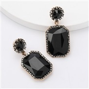 ( black)earrings Autumn and Winter occidental style exaggerating Alloy diamond Rhinestone glass diamond earrings woman g