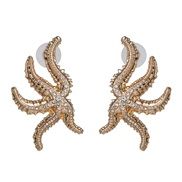 occidental style personality starfish big ear stud fashion woman all-Purpose more style crafts