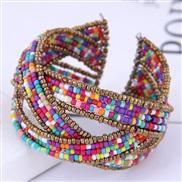 occidental style fashion Bohemian style  concise pure handmade beads establishment temperament opening bangle
