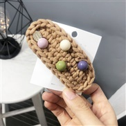 autumn Winter woolen hair clip Round woman color candy colors head