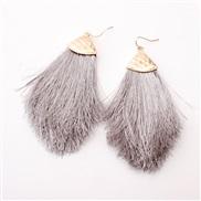 ( gray)occidental style earrings Alloy head tassel spring color woman style earring new