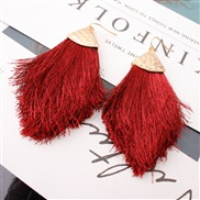 ( Burgundy)occidental style earrings Alloy head tassel spring color woman style earring new