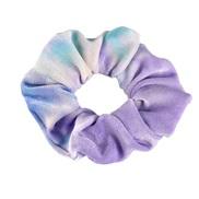 ( sky blue +purple)occidental style big circle circleins gradual change color velvet fashion rope head woman