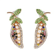 ( Color)UR personality Modeling earrings Alloy diamond small fresh woman all-Purpose fashion