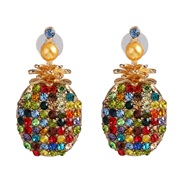( Color)occidental style wind Pearl earrings fashion colorful diamond earring fruits