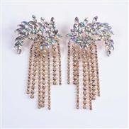 new Earring  Bohemia Alloy fully-jewelled tassel earrings