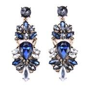 ( blue)occidental style fashion exaggerating arring retro Alloy earrings geometry diamond long style earrings