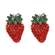 ( red)personality ear stud lovely girl student fruits earrings fashion occidental style