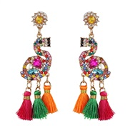 ( Color)UR personality ethnic style earrings retro tassel earring animal Earring