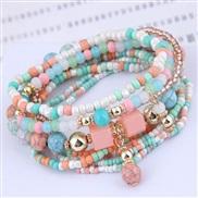 occidental style trend  Bohemia noble wind mash up beads multilayer bracelet