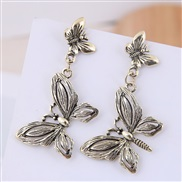 occidental style fashion  Metal bow exaggerating temperament ear stud