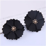occidental style fashion  Metal exaggerating sweet flowers temperament ear stud