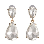 ( white)occidental style classic fashion drop earrings earring color glass all-Purpose