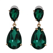 ( green)occidental style classic fashion drop earrings earring color glass all-Purpose