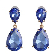 occidental style classic fashion drop earrings earring color glass all-Purpose