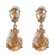 ( Champagne gold)occidental style classic fashion drop earrings earring color glass all-Purpose