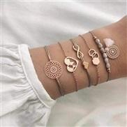 occidental style bracelet set personality meteor Moon geometry