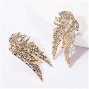 ( Gold)creative samll wings Rhinestone diamond earrings woman occidental style exaggerating wind ear stud