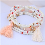 occidental style trend  Bohemia noble wind mash up beads accessories tassel temperament multilayer bracelet