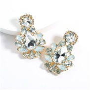 ( white)earrings exaggerating drop Acrylic diamond earrings woman occidental style fully-jewelled super ear stud