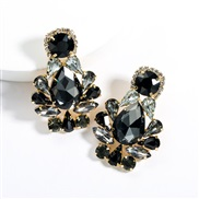 ( black)earrings exaggerating drop Acrylic diamond earrings woman occidental style fully-jewelled super ear stud