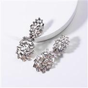 ( white) occidental style exaggerating diamond Acrylic diamond hollow geometry fully-jewelled earrings woman fashion nob