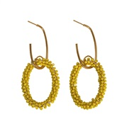 Bohemia summer trend beads cirque earring  occidental style beads circle earrings woman