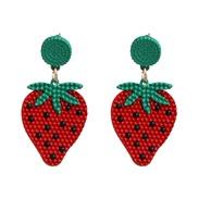 Earring lovely fresh fruits earrings temperament personality wind earring woman ear stud