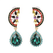 ( Color)UR personality fruits earrings embed Rhinestone earring style arring