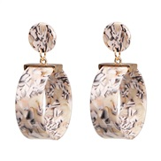 (Rice white )occidental style exaggerating earrings fashion high-end earring
